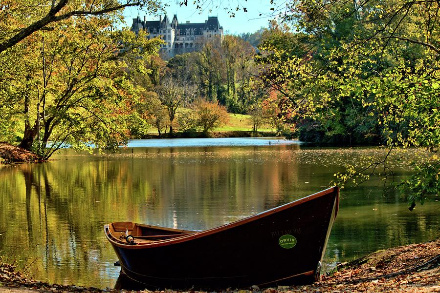 Biltmore Autumn And Orvis Rowboat  by Carol Montoya