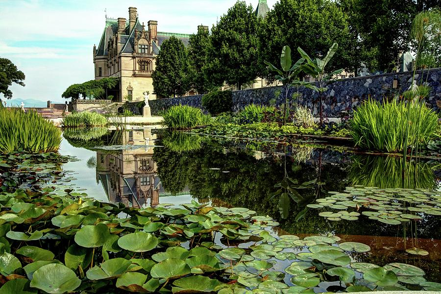 Biltmore Reflection In The Italian Gardens Photograph