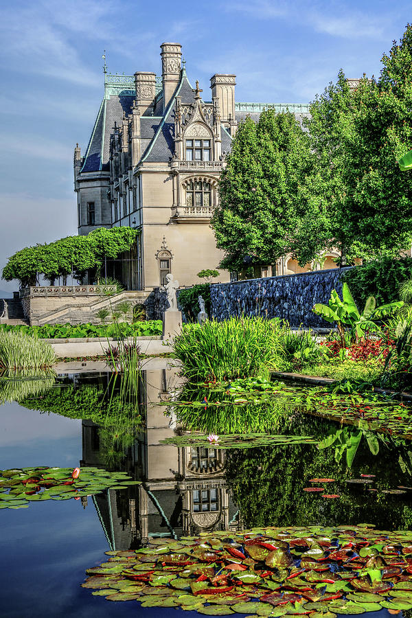 Biltmore Reflection In The Italian Gardens II Photograph