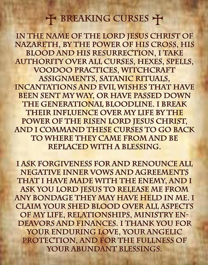 Binding Prayer For Breaking Curses  by Samuel Epperly