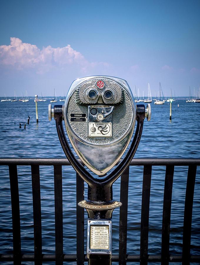 Keyport Photograph - Binocular Viewer by Steve Stanger