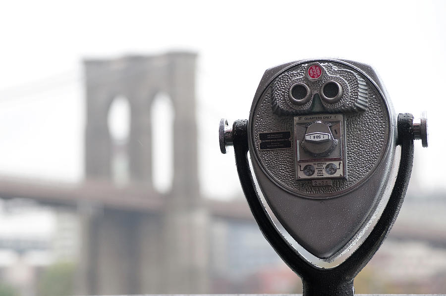 Binoculars On Riverbank In Manhattan Photograph by Keith Levit Photography