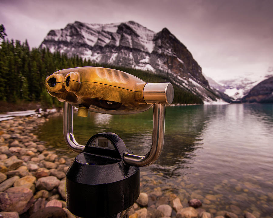 Alberta Photograph - Binoculars by Peter OReilly