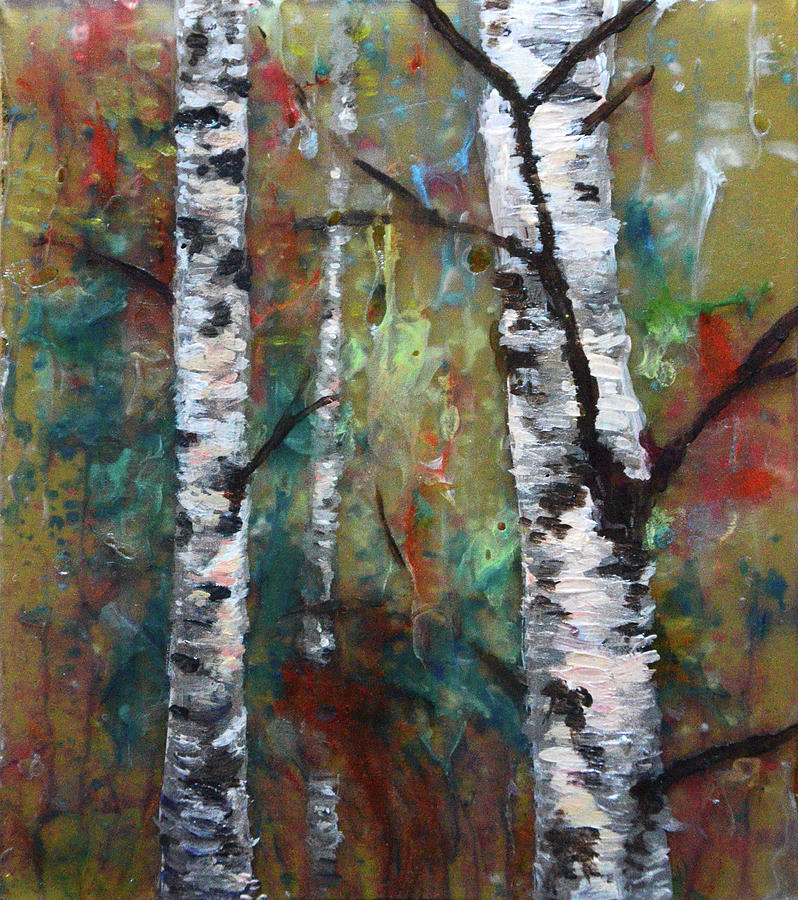 Birch Painting - Birch Portrait I by Melissa Peterson