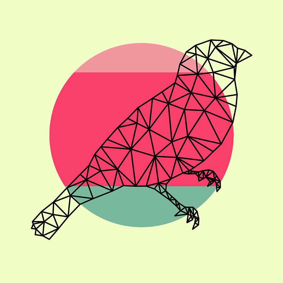 Bird Digital Art - Bird And Sunset by Naxart Studio