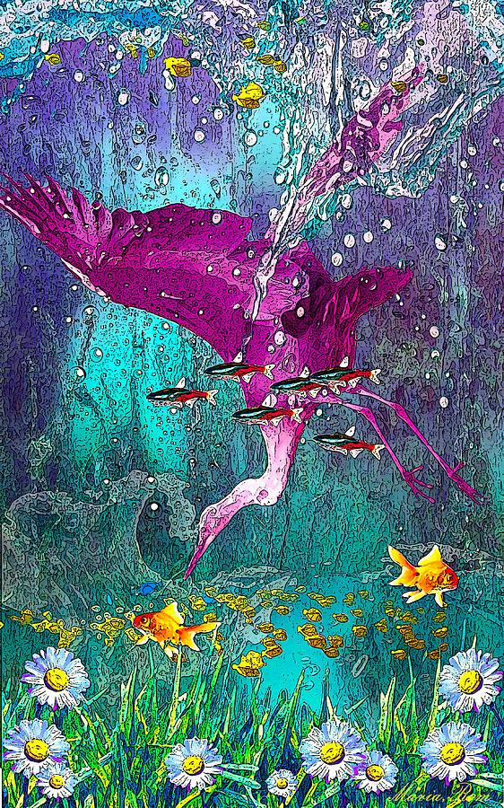 Bird underwater by MARIA ROM