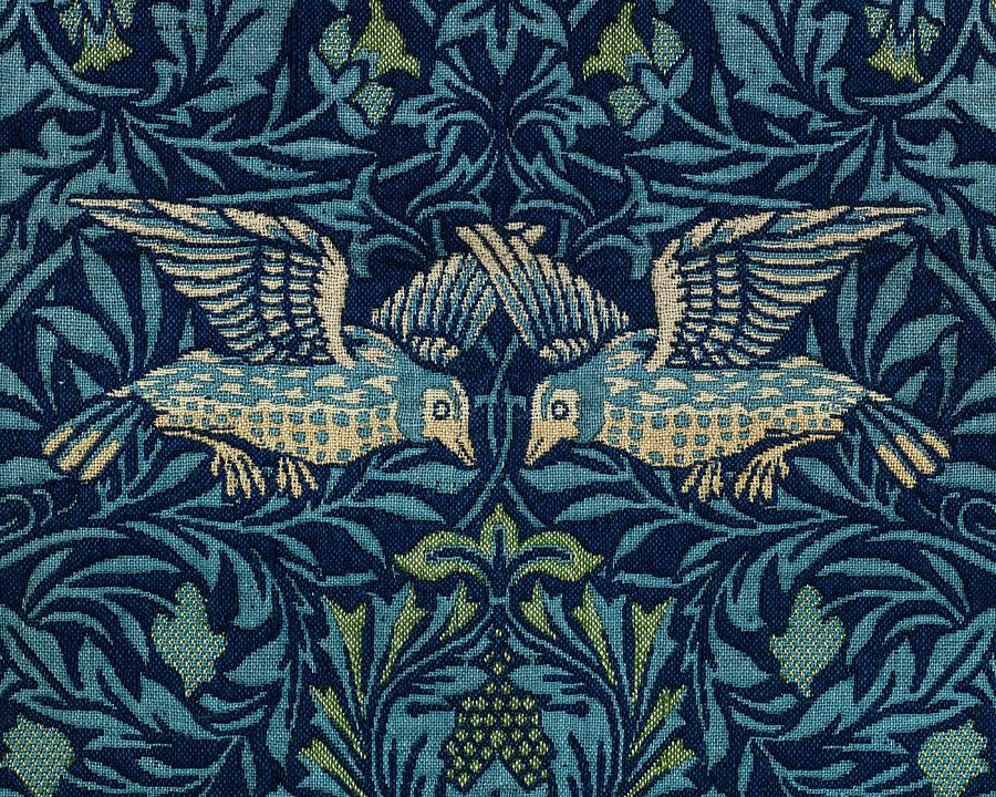 Birds By William Morris  1834-1896  2 Painting