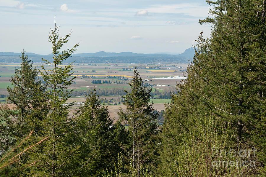 Birds Eye Landscape Skagit County Washington by Valerie Garner