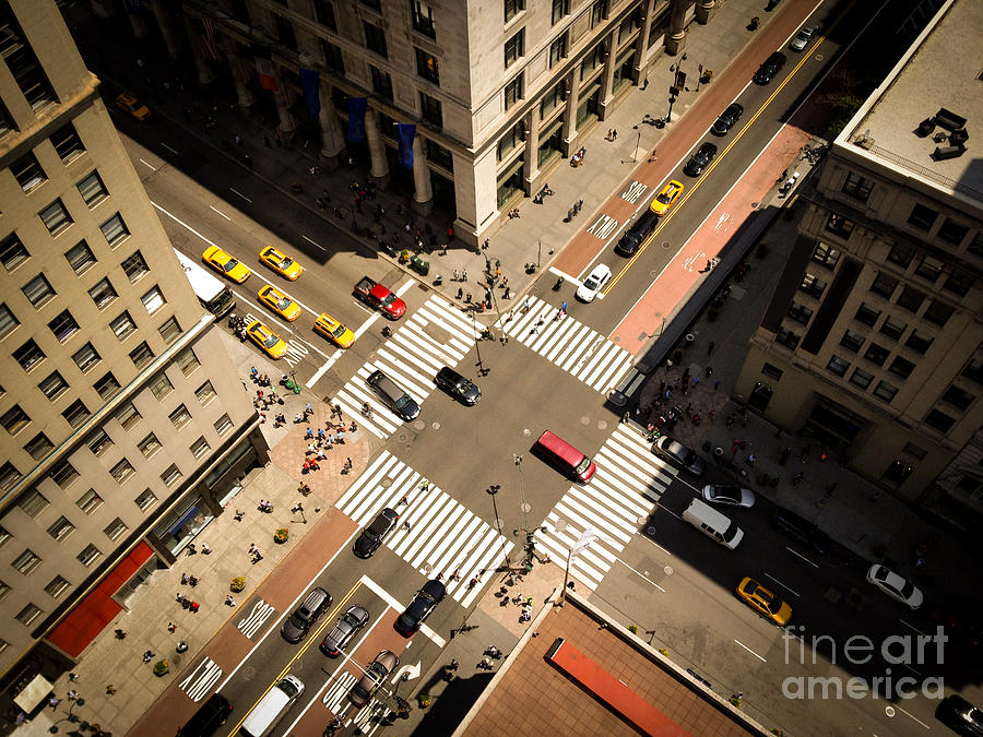 Small Photograph - Birds Eye View Of Manhattan, Looking by Heather Shimmin