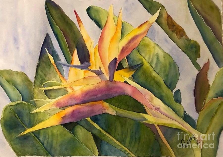 Watercolor Painting - Birds In Paradise by Caroline Harris