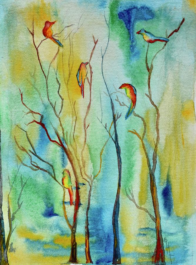 Birds In Trees by Beverley Harper Tinsley