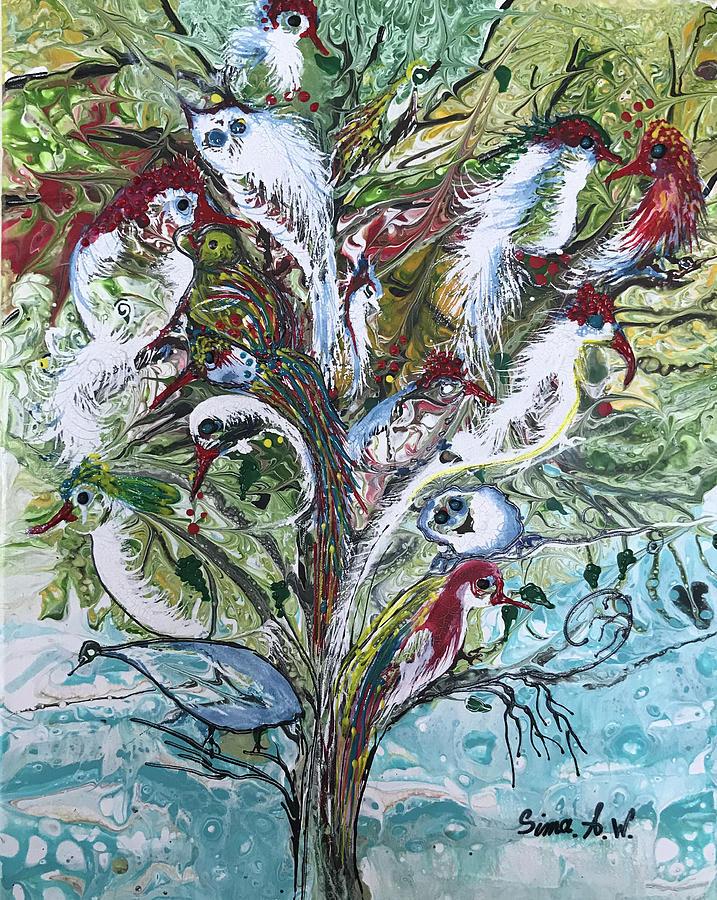 Birds of Paradise # 200 by Sima Amid Wewetzer