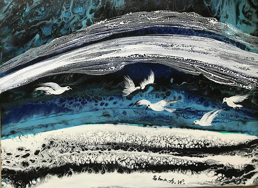 Birds of Paradise #5 by Sima Amid Wewetzer
