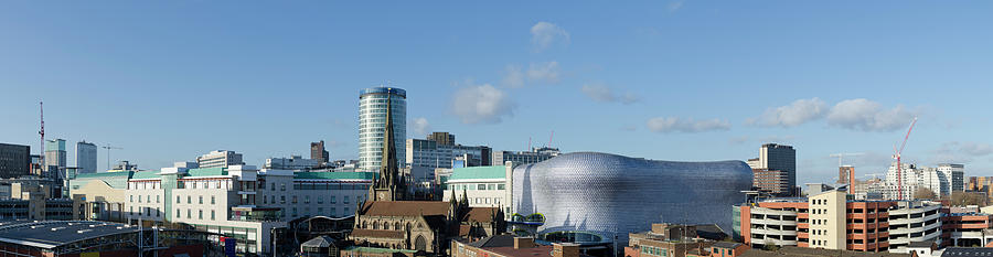Birmingham Skyline Panorama Photograph by Dynasoar
