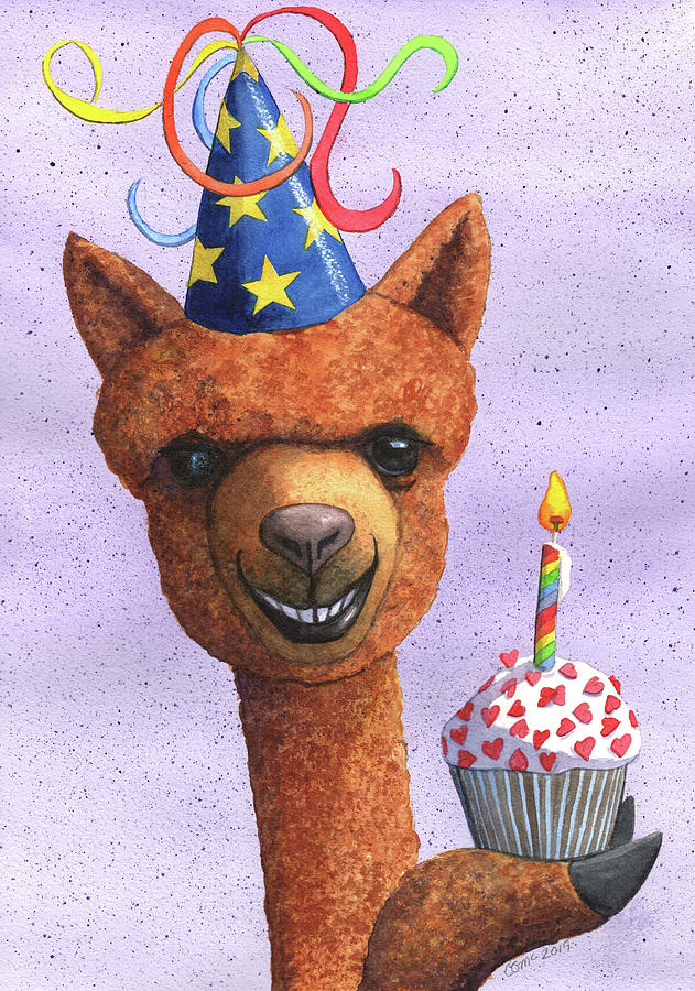 Birthday Alpaca by Catherine G McElroy