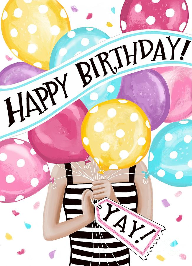 Birthday Balloons by Elizabeth Robinette Tyndall