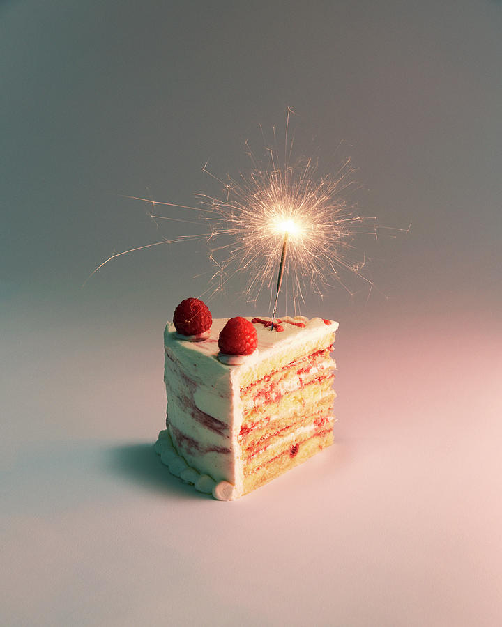 Miraculous Birthday Cake And Sparkler Photograph By Felicity Mccabe Funny Birthday Cards Online Fluifree Goldxyz