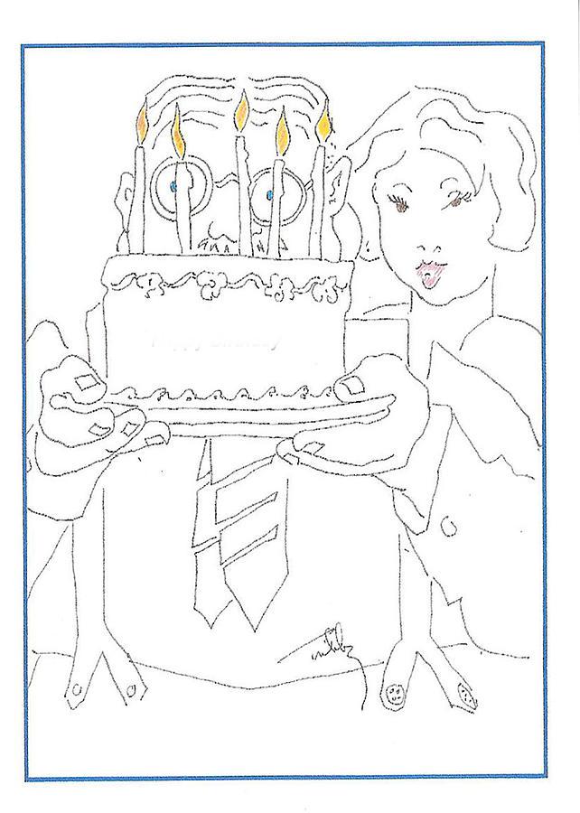 Birthday card by Thomas Tribby
