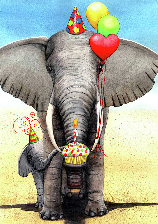 Birthday Elephant by Catherine G McElroy