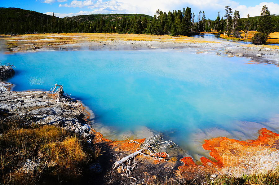Usa Photograph - Biscuit Basin,yellowstone National by Wizard8492