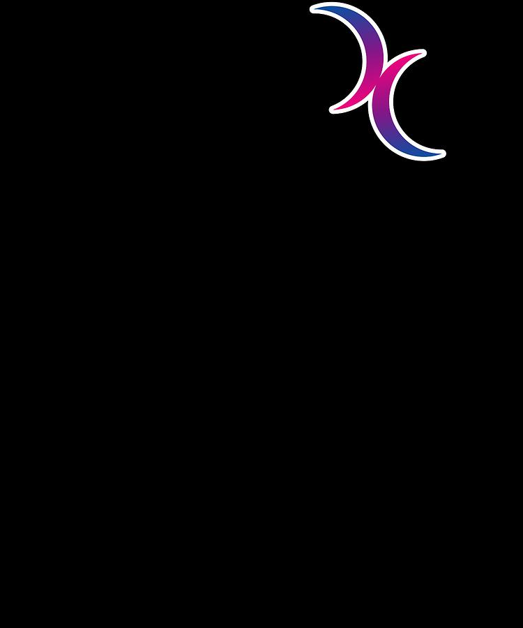Bisexual Crescent Moon Symbol Gay Pride Lgbt
