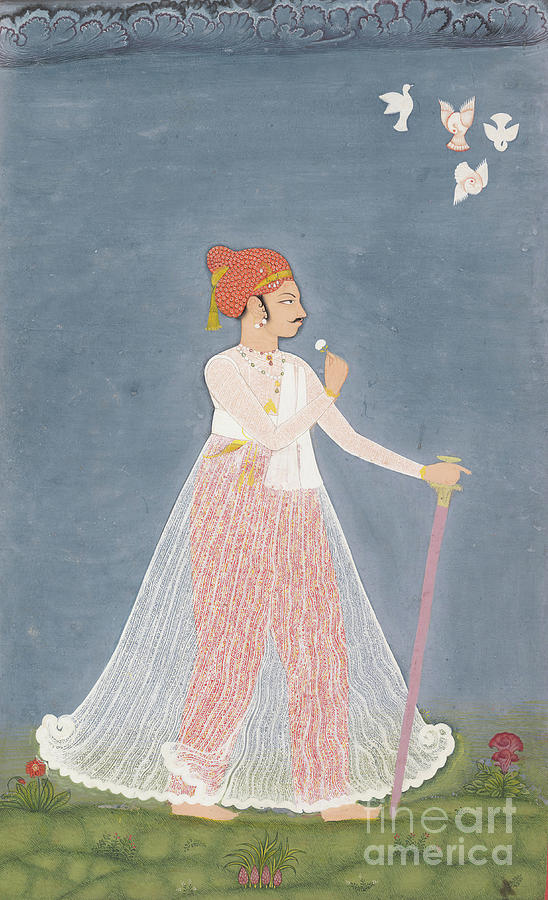 Bishen Singh As A Young Man Drawing by Heritage Images
