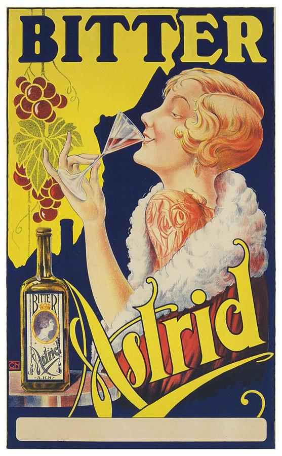 bitter astrid liquor vintage drink poster by siva ganesh