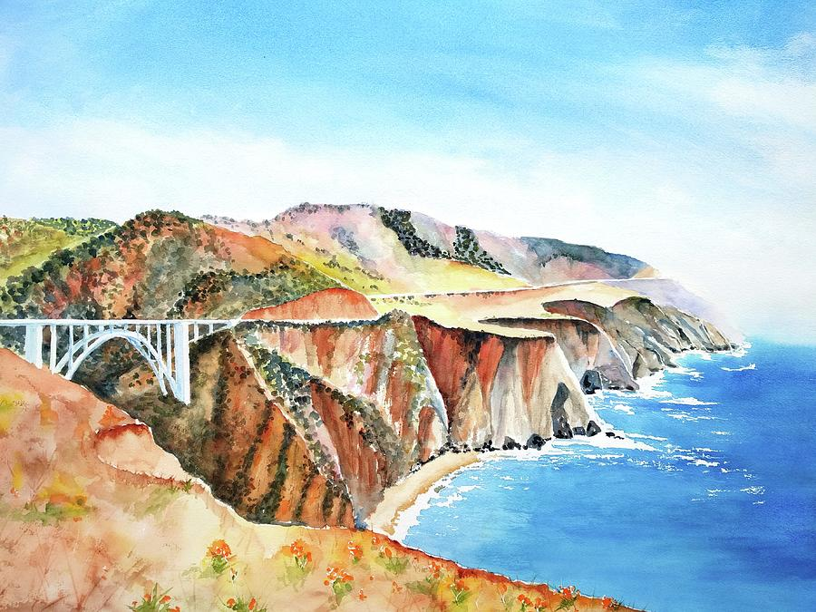 Bixby Bridge 3 Big Sur California Coast by Carlin Blahnik CarlinArtWatercolor