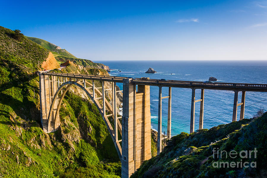 Big Photograph - Bixby Creek Bridge In Big Sur by Jon Bilous