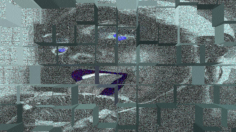 Abstract Photograph - Biz Blue by Russell Jenkins