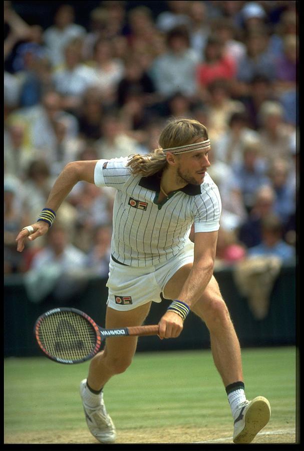 Bjorn Borg Sweden Wimbledon Photograph by Steve Powell