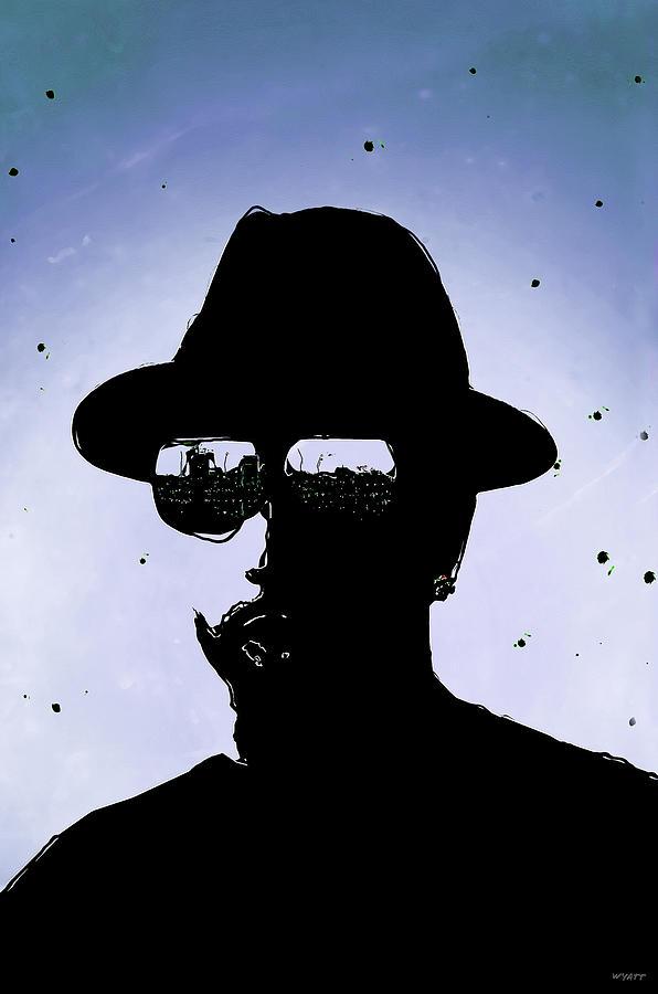 Young Adult Male Digital Art - Black and Blue Dude by Regina Wyatt