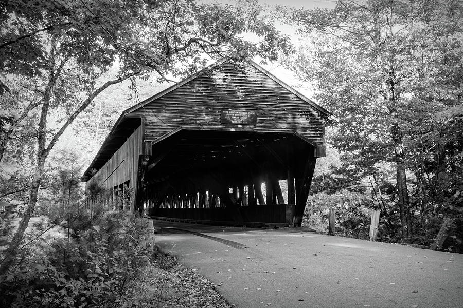 Black and White Albany Covered Bridge by Jeff Folger