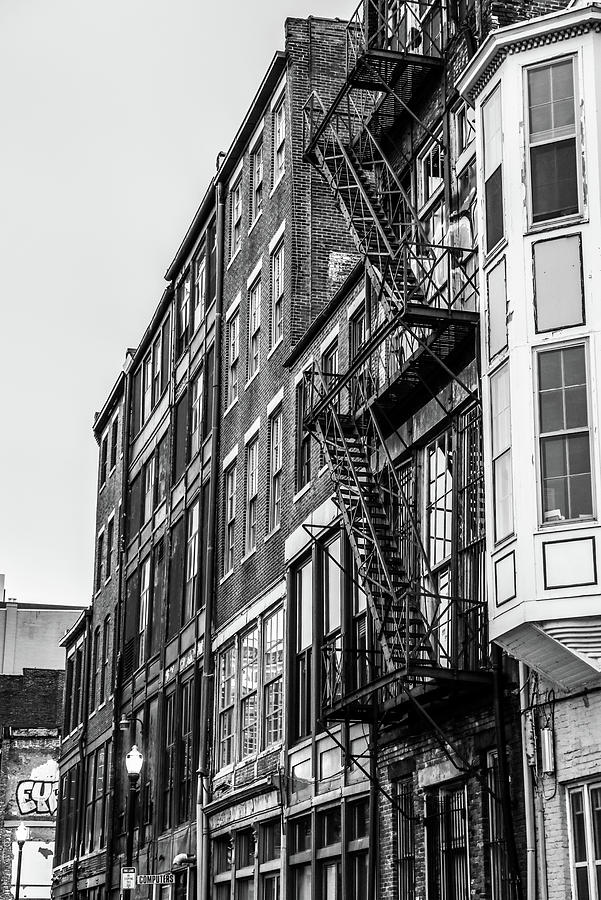 Black And White Apartment Building by Dan Sproul
