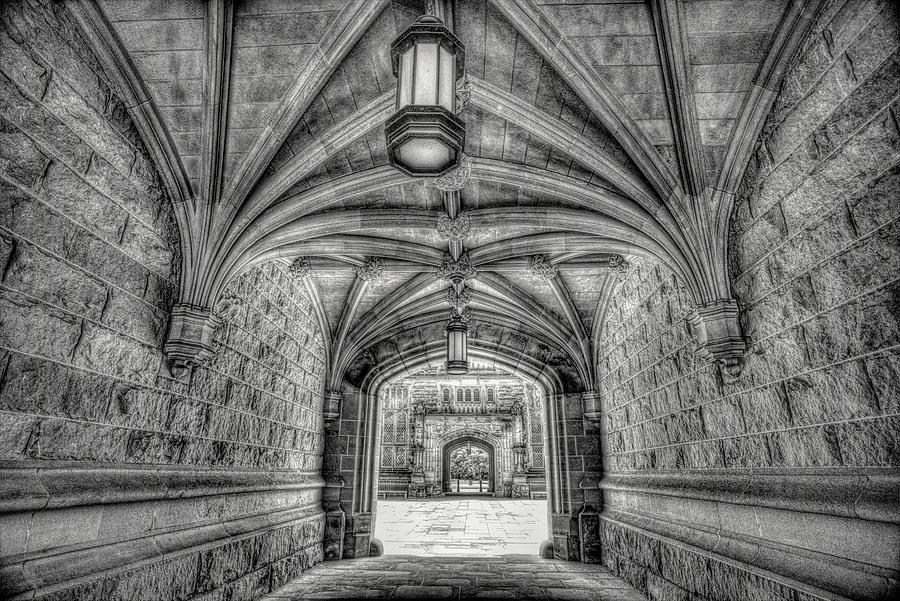 Black And White Arch At Princeton University Photograph