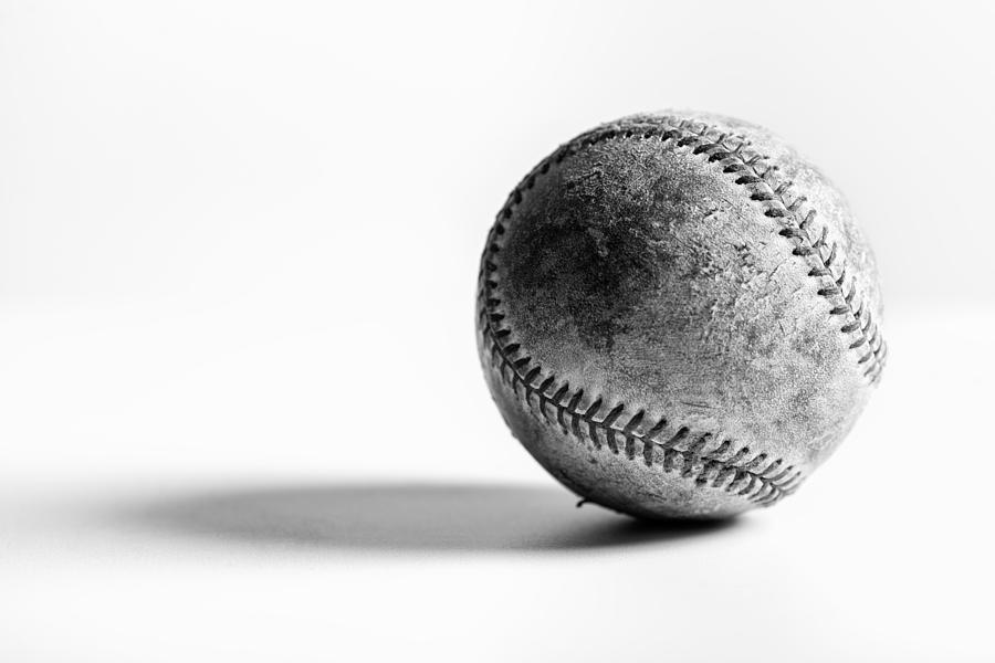 Black and White Baseball by Matt Hammerstein