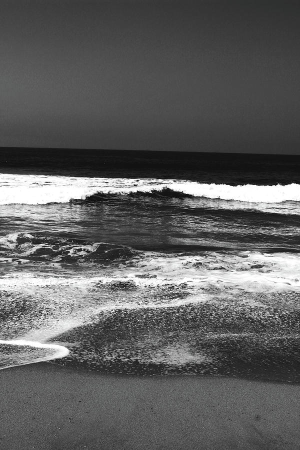 Beach Photograph - Black And White Beach 7- Art By Linda Woods by Linda Woods