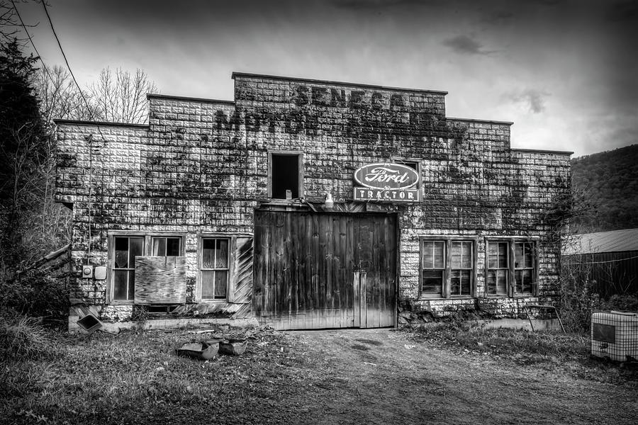 Black and White of old Seneca Motor building by Dan Friend
