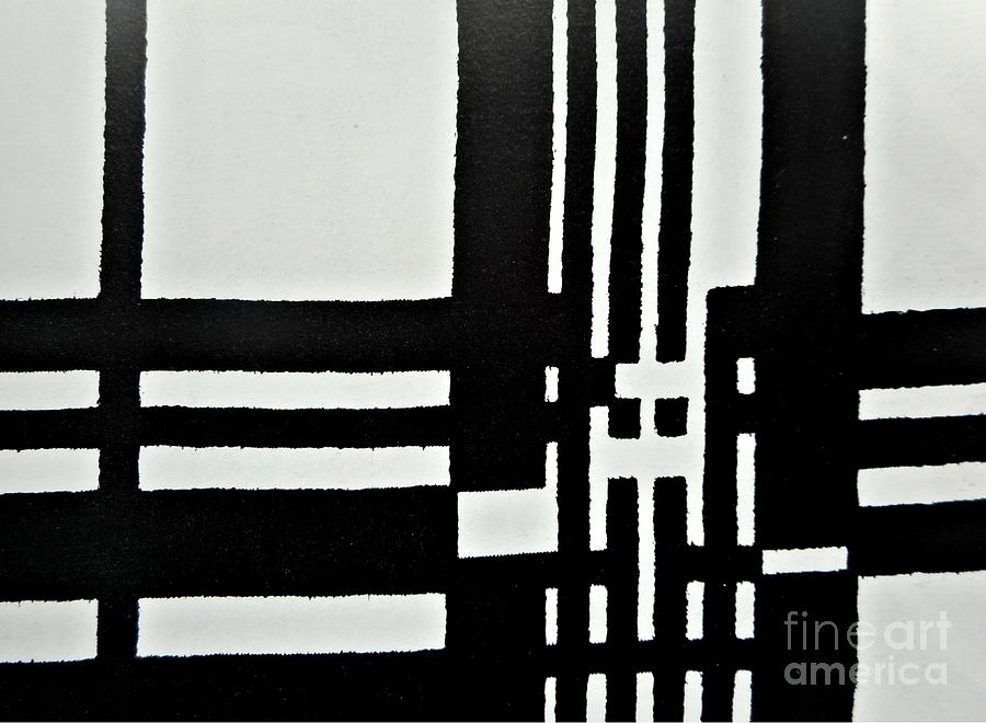 Black And White Pattern-1 Painting