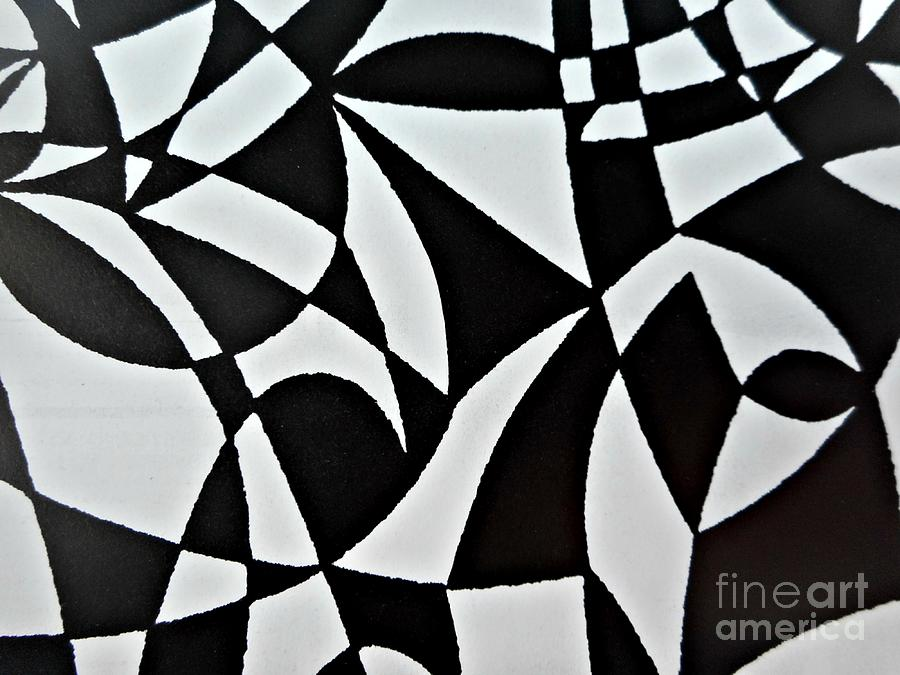Black And White Pattern-6 Painting