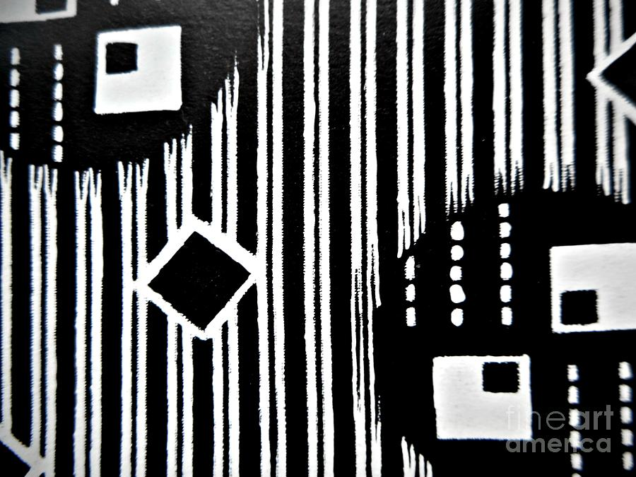Black And White Pattern-8 Painting