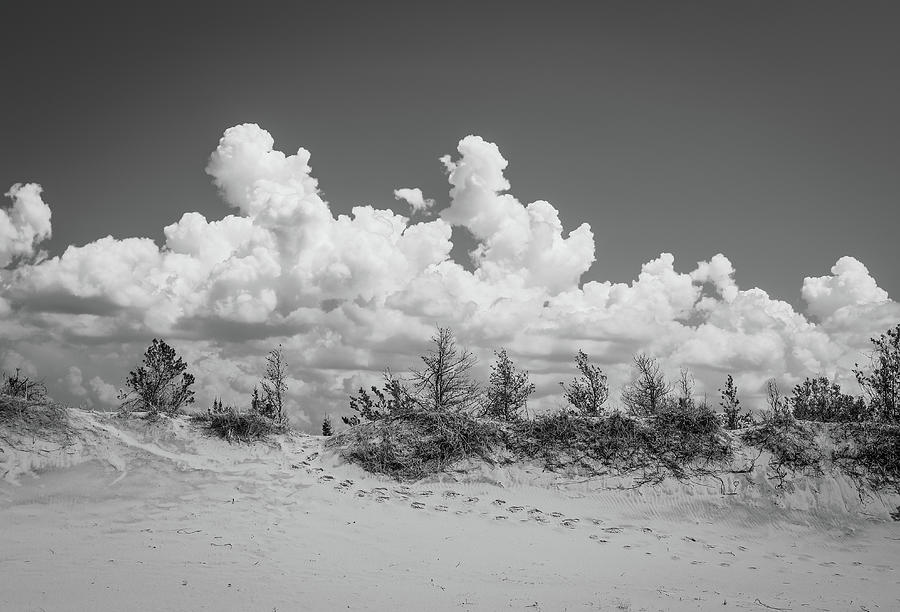 Black And White Sand Dune Hike by Dan Sproul
