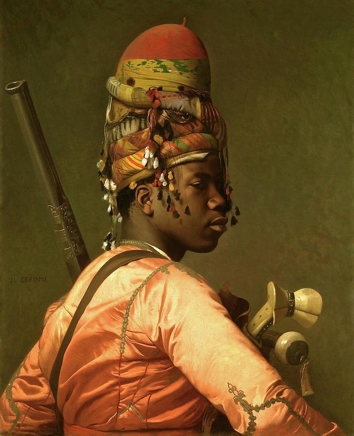 Albanians Painting - Black Bashi Bazouk 1868 69 by Thomas Pollart