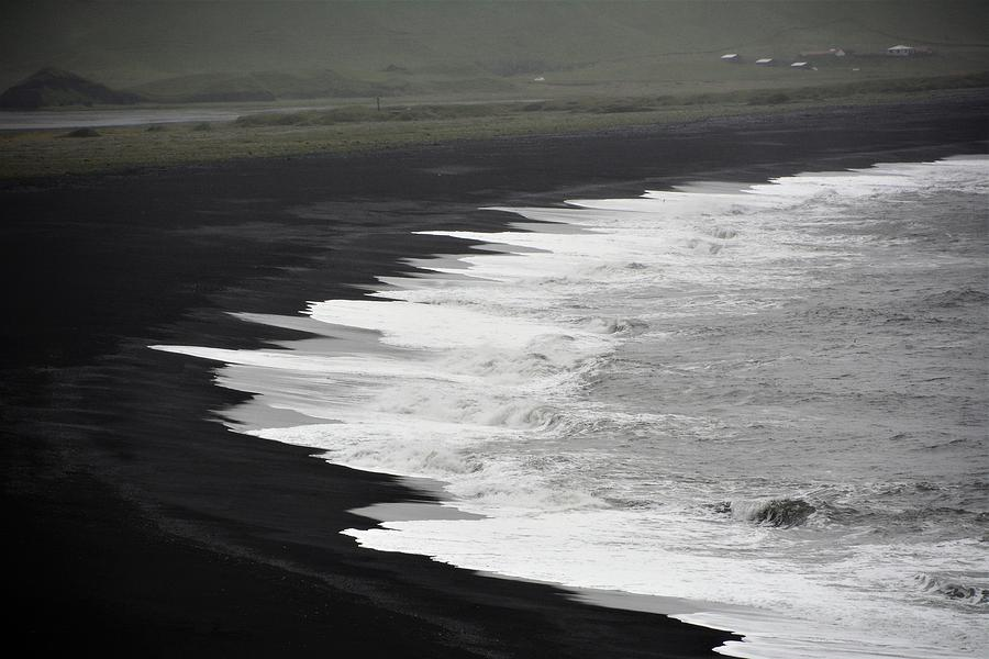 Iceland Photograph - Black Beach by Norman Burnham