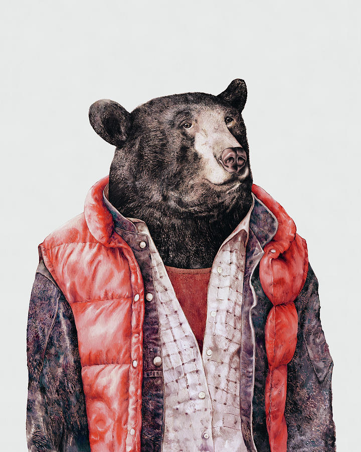 Bear Painting - Black Bear by Animal Crew