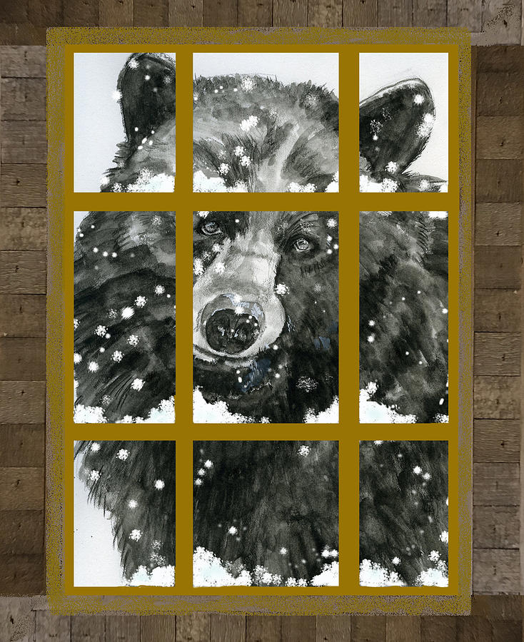 Black Bear, Outside My Window by Joan Chlarson