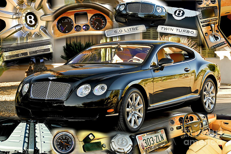 Black Bentley Hard Top Twin Turbo by Charles Abrams