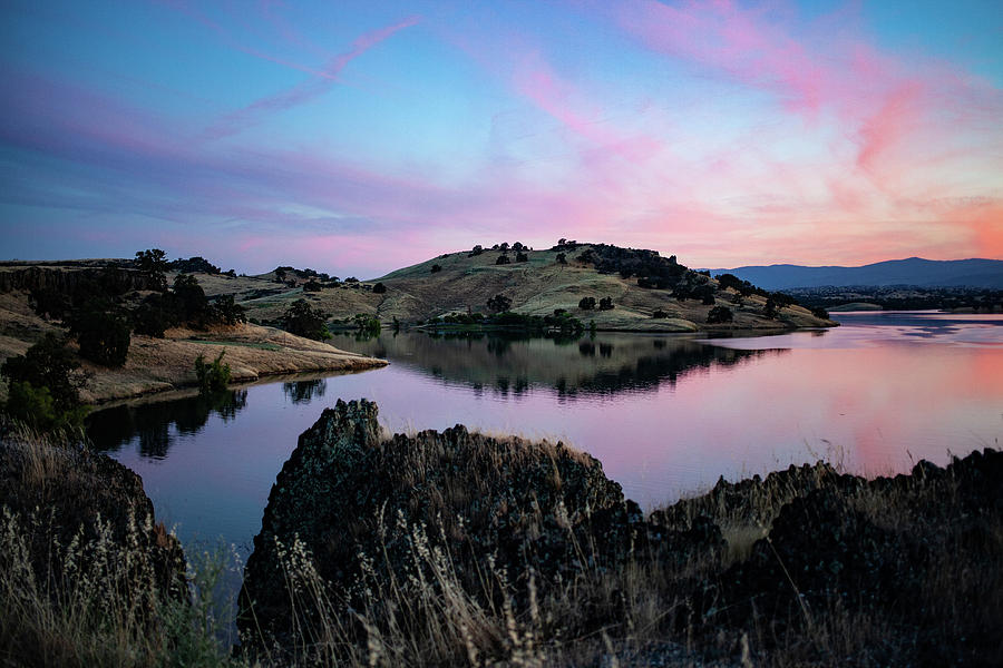 Norcal Photograph - Black Butte Lake sunset by John Heywood