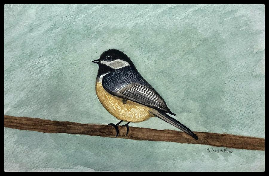 Black Capped Chickadee W/ Boarder Painting