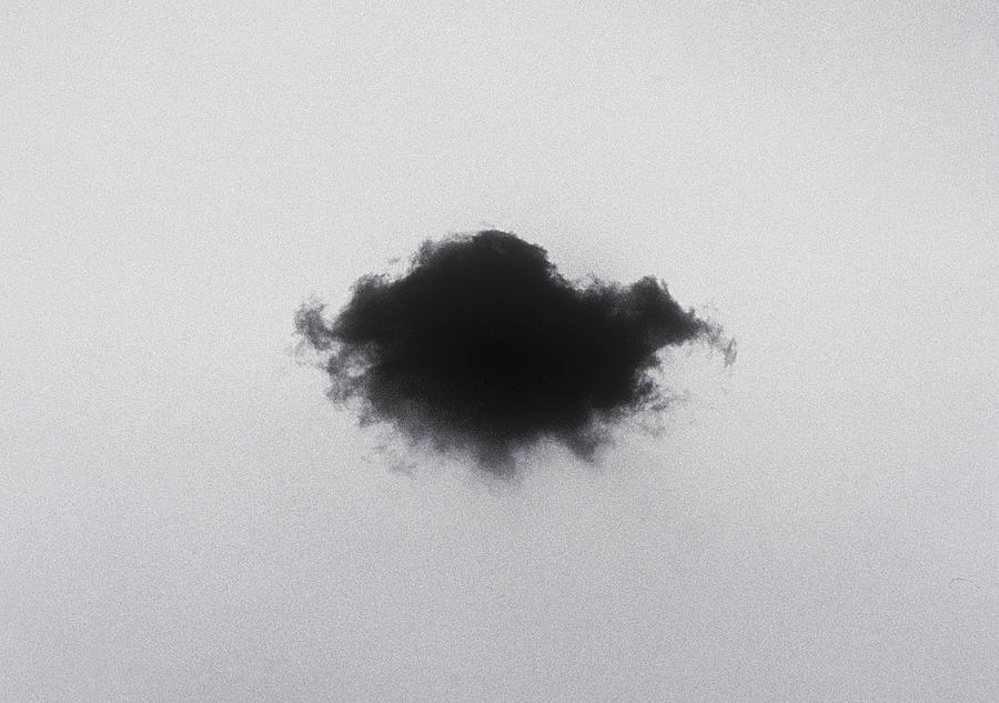 Black Cloud Against Grainy Sky Photograph by Andreas Rentsch